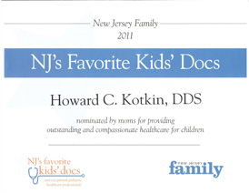 Nj Favorite Kid's Docs 2011