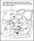 Coloring Page thumbnail - At the Dentist